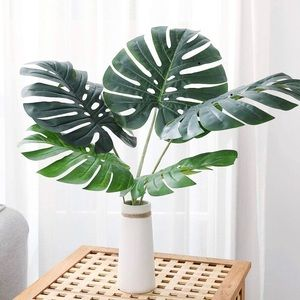 Set of Faux Monstera Leaves